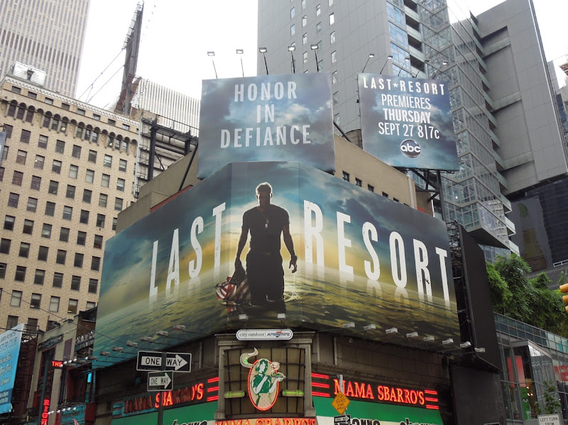 Last Resort billboards Times Square NYC