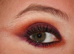 Orange & Violet Eye MakeUp