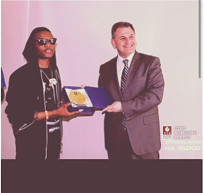 Wizkid Received a certificate from University of Cyprus