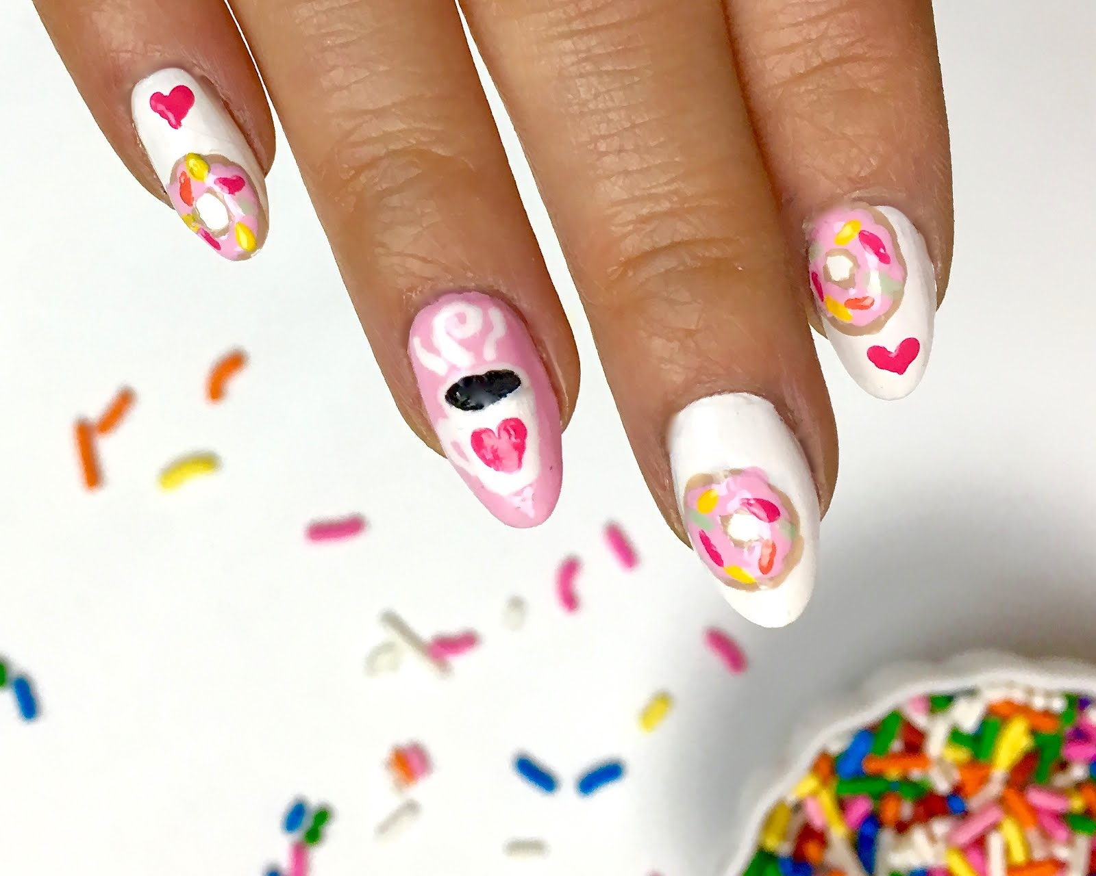 Video donut nail art design lindsay ann bakes click here to watch the video on youtube prinsesfo Gallery