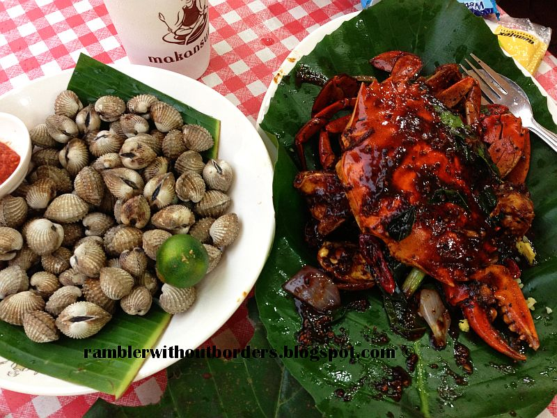 chili crabs and cockles