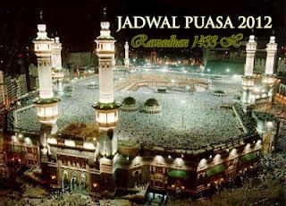 Jadwal Puasa Ramadhan Tahun 1433 H / 2012 M
