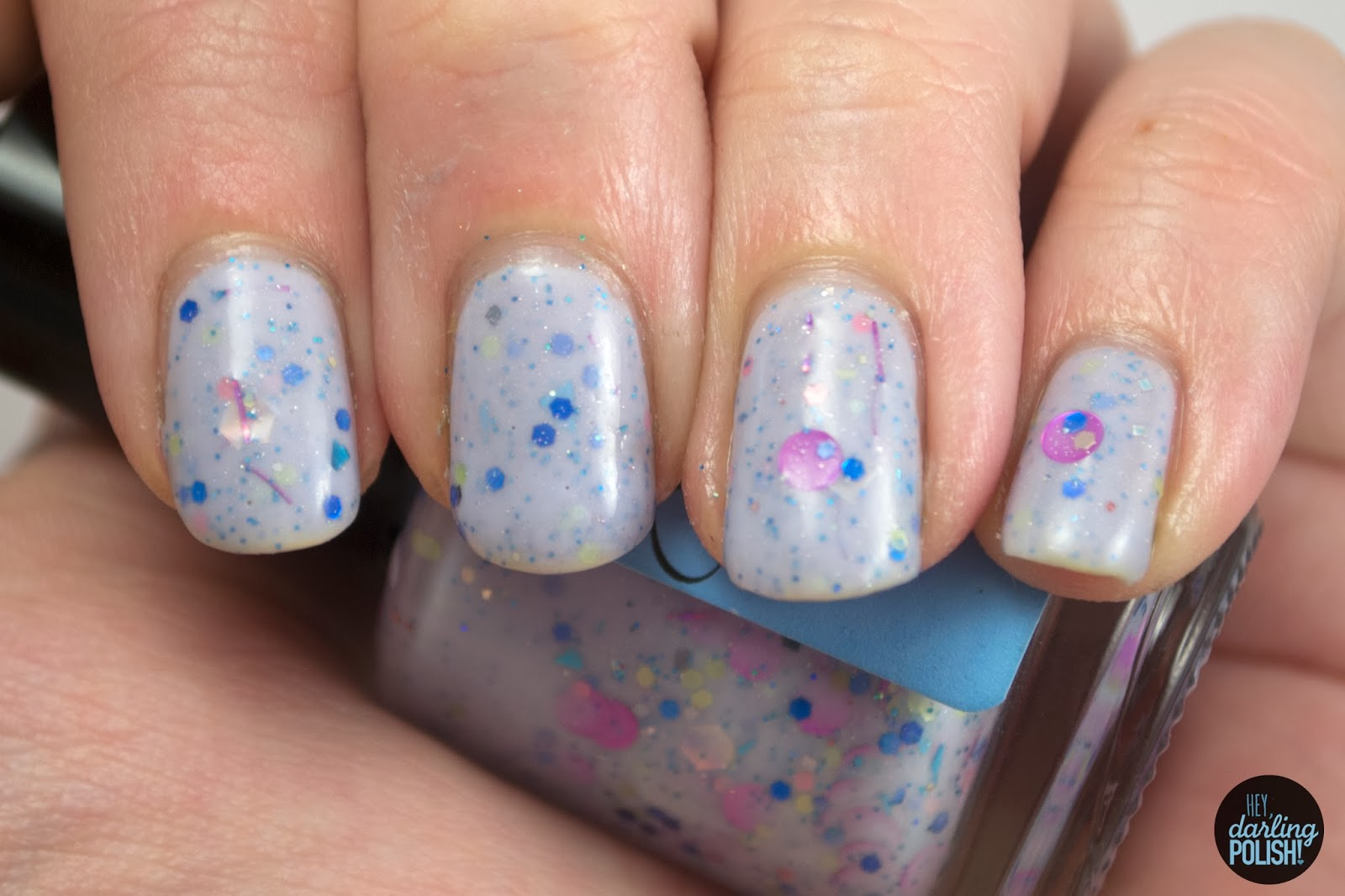 indie, indie polish, glossome polish, indie friday, glitter crelly, hey darling polish, peri-twinkle, blue