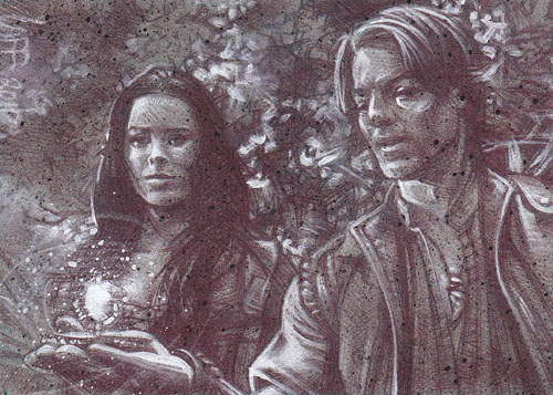Legend Of The Seeker (Pencil study) ACEO Sketch Card by Jeff Lafferty