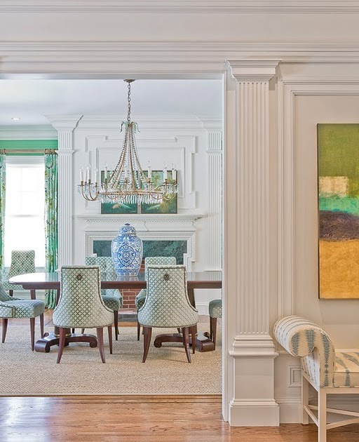 Aesthetic oiseau aqua jade dining room from katie rosenfeld for H o rose dining room