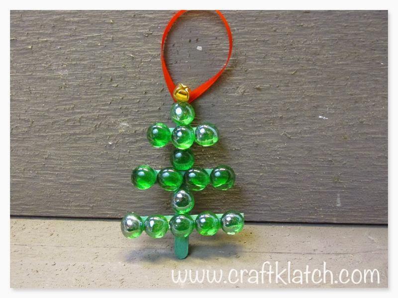 Craft klatch easy glass gem christmas tree how to