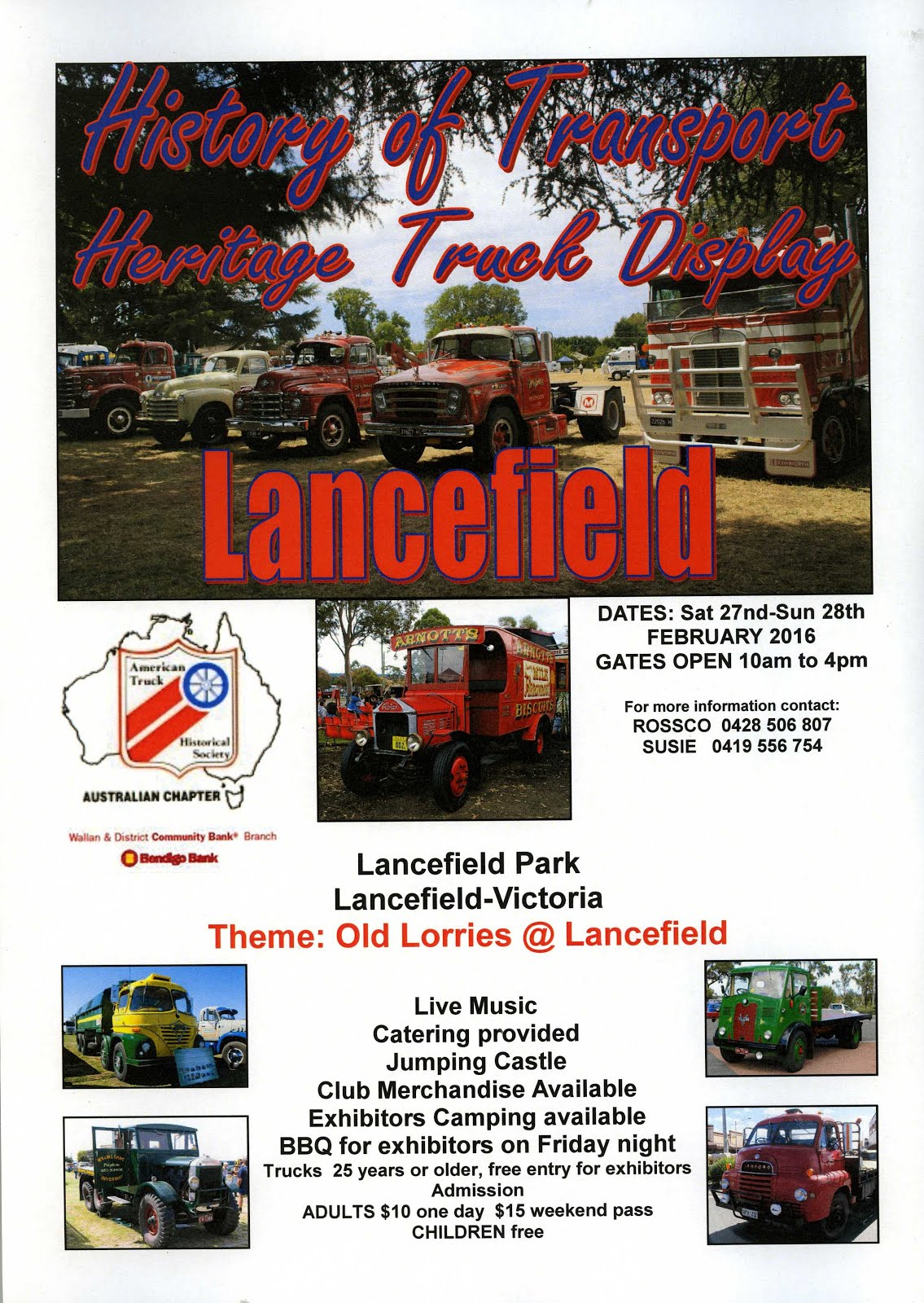 Lancefield Heritage Truck Display  February 27 & 28 2016