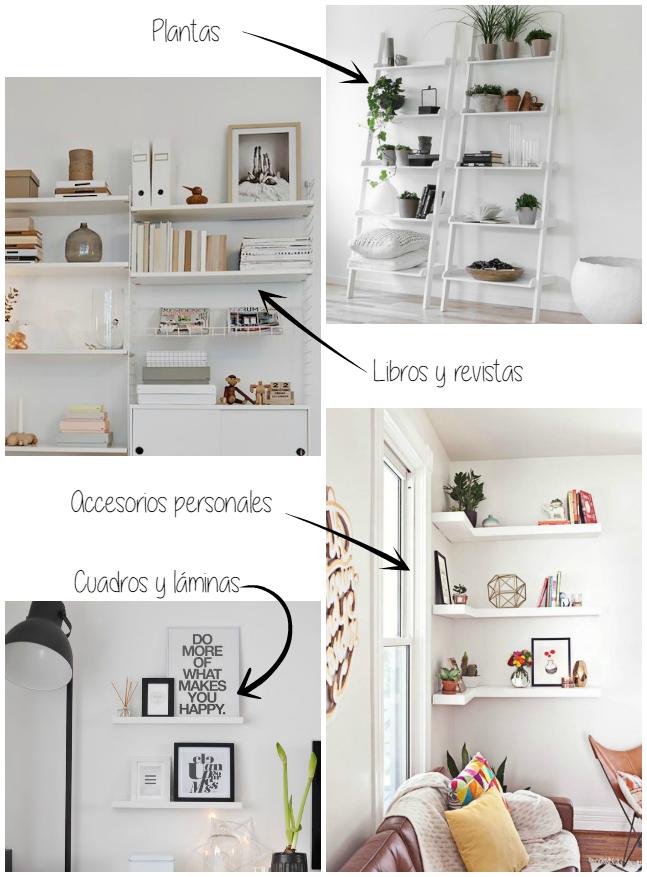 Decorar estantes estanter as y baldas la garbatella - Ideas para estanterias ...