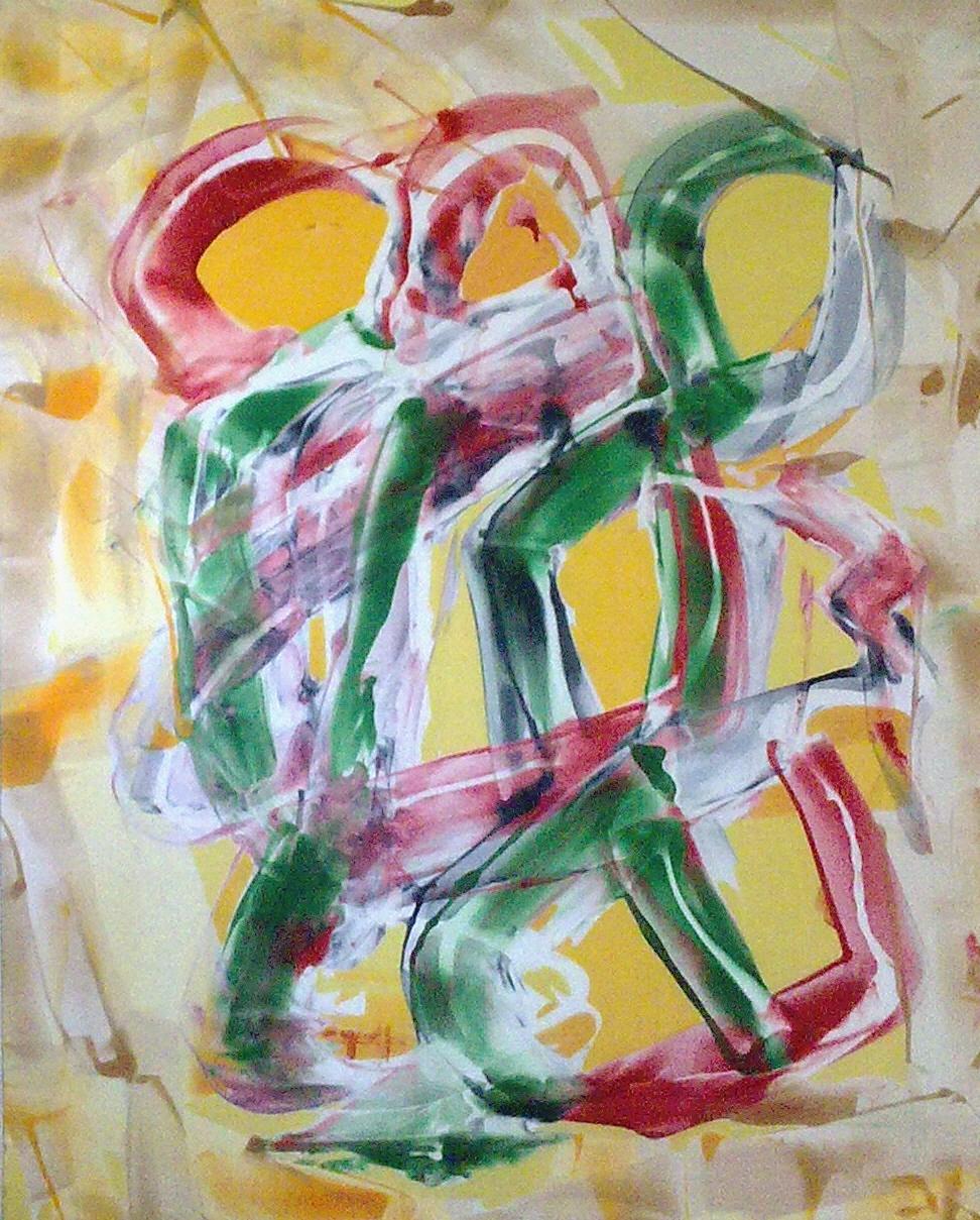 Pintura en seda Clara Tengonoff
