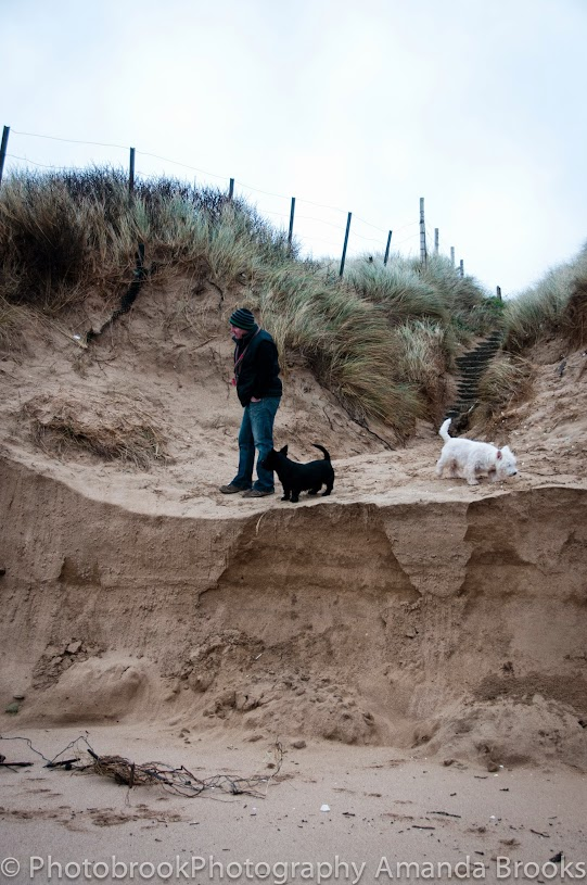 Sand dune damage at Fistral beach. Newquay