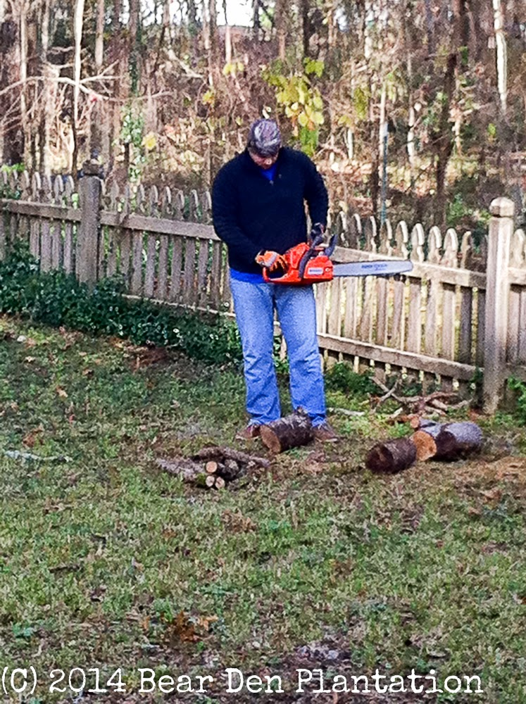 Husqvarna chainsaw from Bear Den Plantation