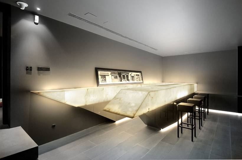 Bar in Ultra Modern Concrete House by A-cero Architects