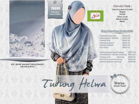 shawl labuh tudung nur helwa