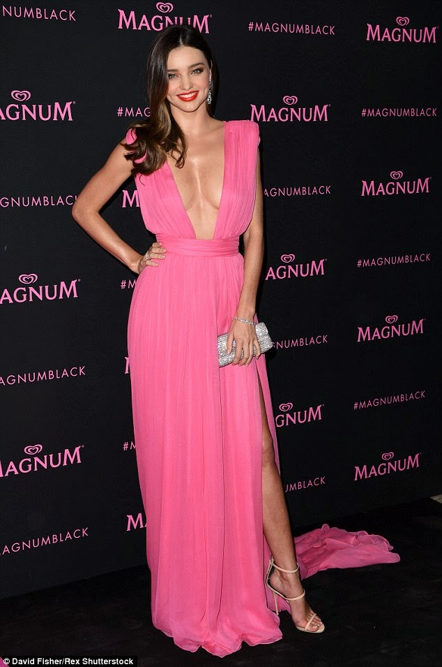 Fashion Model @ Miranda Kerr Dazzles at Magnum Pink & Black Party