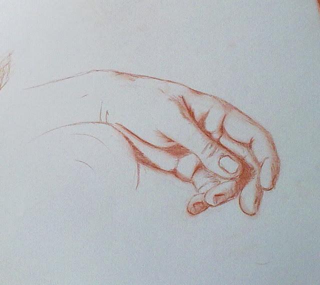 dibujo de mano pieta