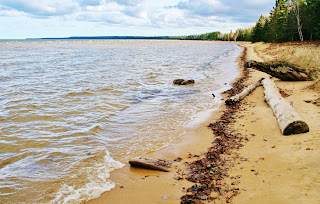 "Beach at ""The Barkdocks"", Whitefish Bay, MI"