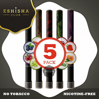 e Shisha Pens 5 Pack Electronic E Hookah eShisha Club T500 - Exclusive Flavours