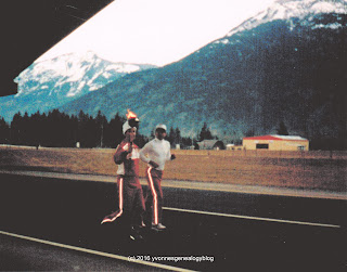 1988 Winter Olympics torch near Hope, BC