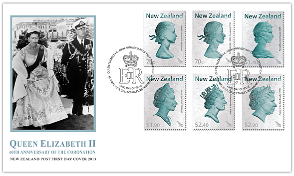 Here is the First Day Cover, again featuring all six stamps as well as ...