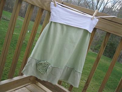 T-Shirt Ruffle Skirt #ruffleskirt #t-shirtskirtwithruffle