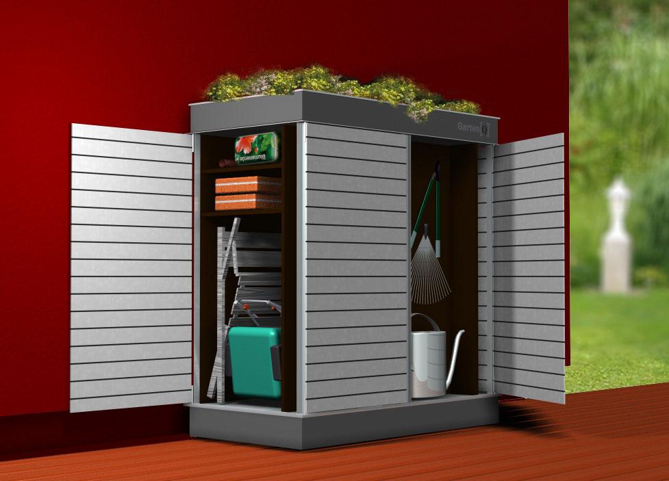 designer gartenhaus das moderne designer gartenhaus mit. Black Bedroom Furniture Sets. Home Design Ideas
