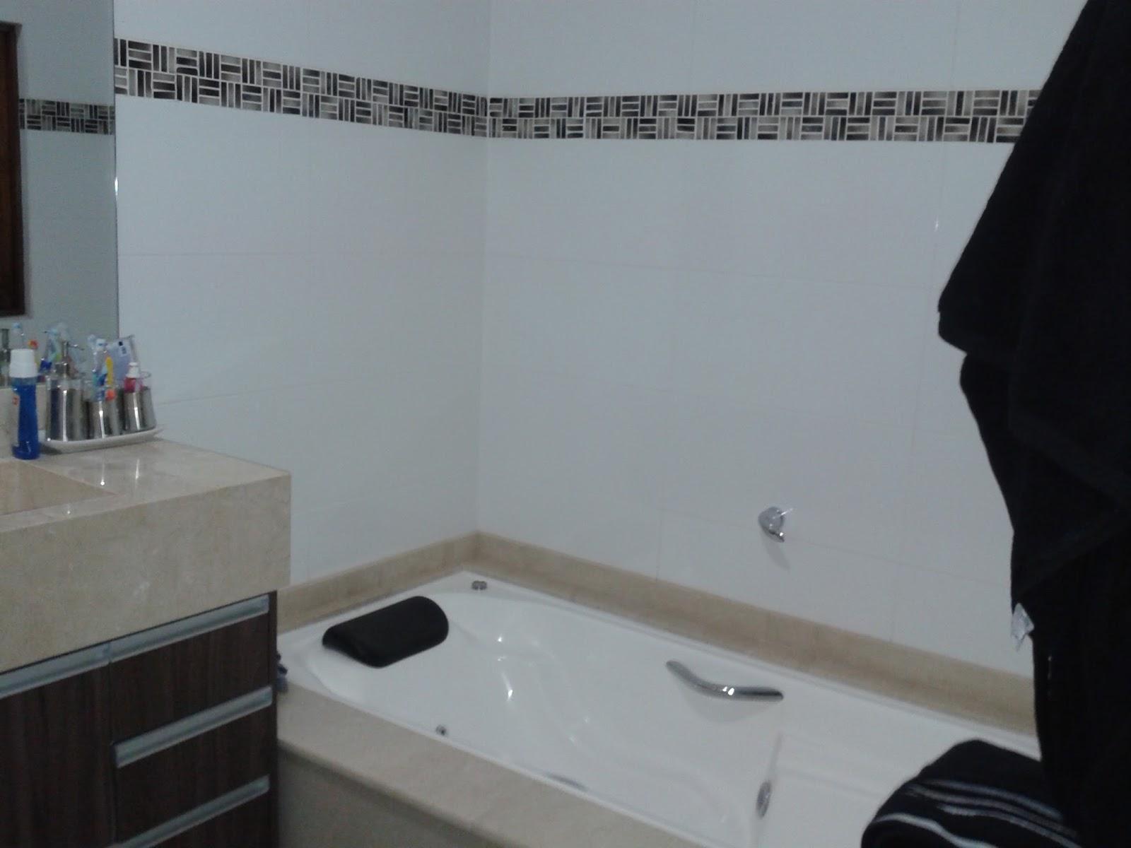 Meu par perfeitoConstruindo o meu lar Banheiro da suíte finalizado, metais, -> Medidas Ideais Para Banheiro Com Banheira