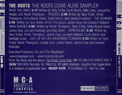 The Roots - The Roots Come Alive Sampler-(Promo)-1999