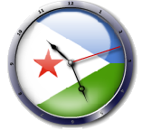 علم جيبوتى  Dijibouti flag clock