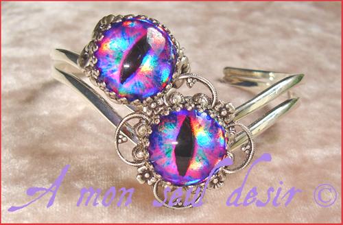 Pbague bracelet yeux oeil dragon reptile serpent bijou cyclope zombie dragons le trône de fer game of thrones jewels