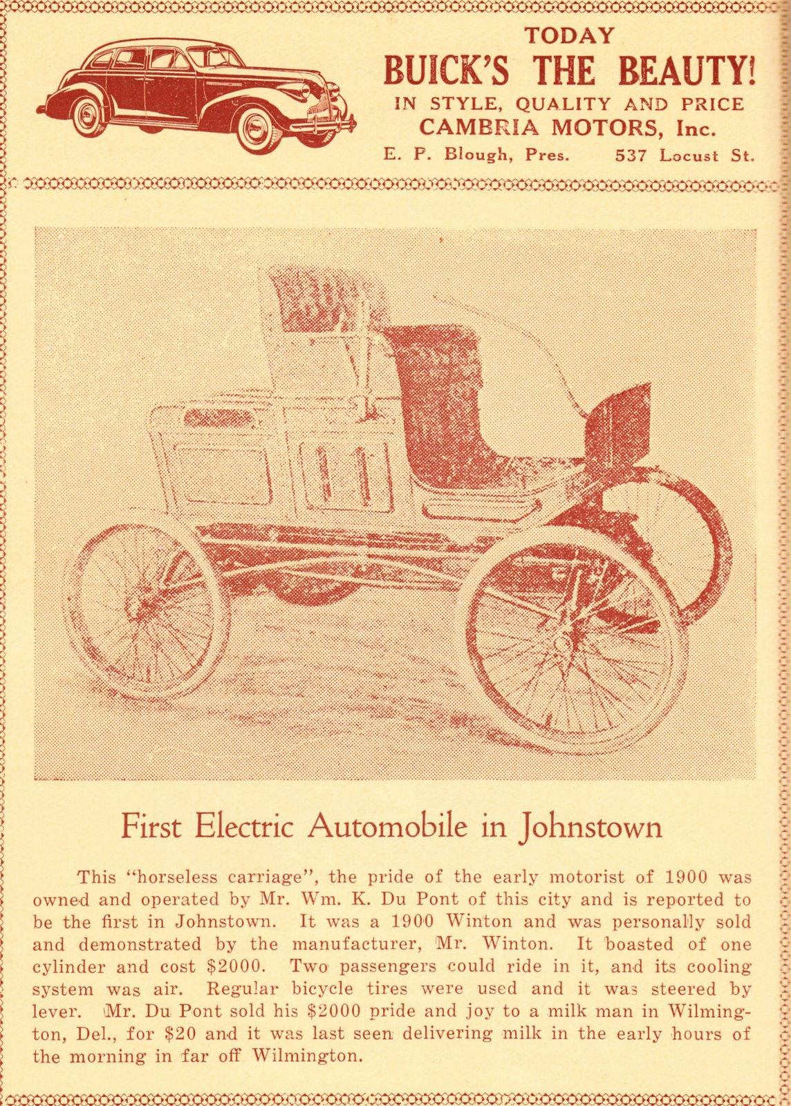 Vintage Johnstown: Johnstown\'s First Electric Car