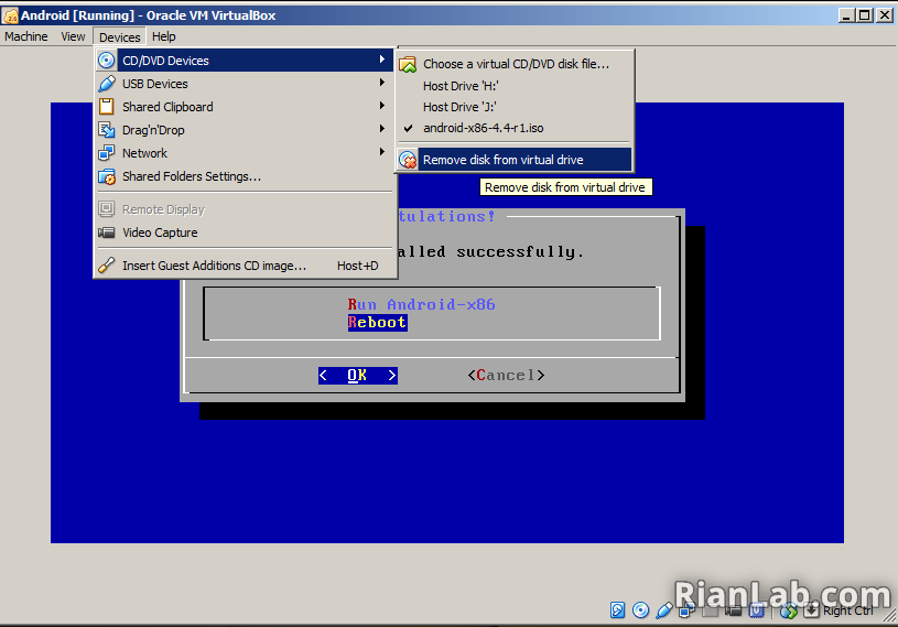 Remove ISO File