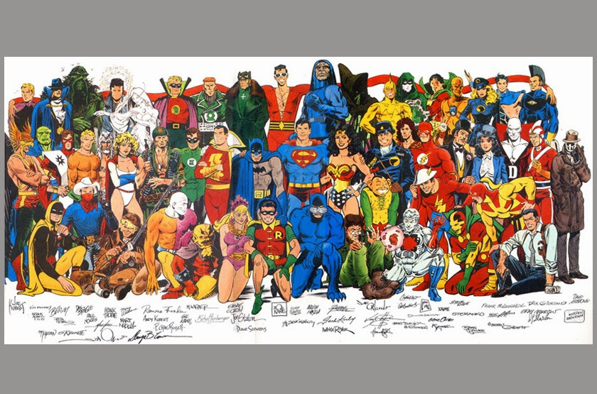 George Perez Wonder Woman Poster Exponential Heroes: A ...