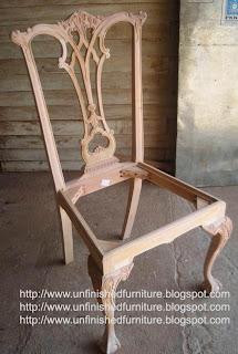 Furniture klasik mebel ukir klasik kursi klasik chippendale unfinished mentah supplier kursi mentah jepara kursi mahoni klasik chippendale