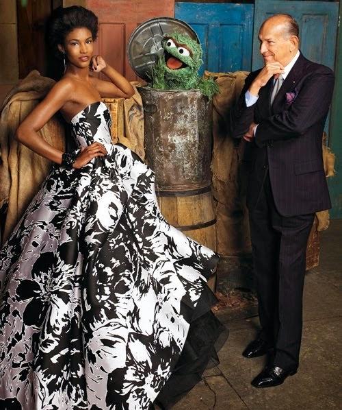 Oscar de la Renta on Sesame Street for Harper's Bazaar | Ses Rêveries