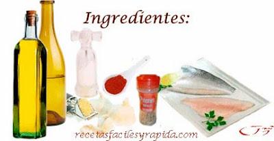Lubina al ajillo con piñones - Ingredientes