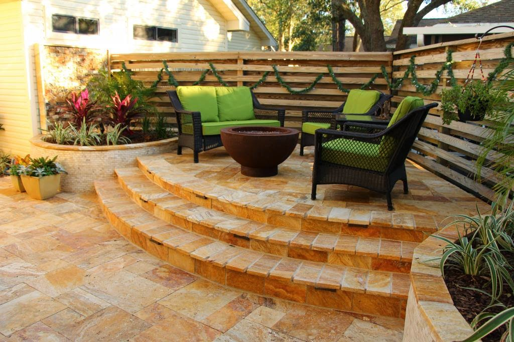Muebles patio y jardines en color verde patios y jardines for Jardines para patios