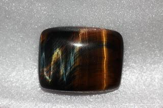 Batu permata Tiger eye dengan kalimah Allah yang tersembunyi