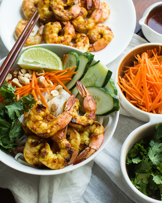 Vietnamese BBQ Shrimp Noodle Bowl by The Adventures of MJ & Hungryman