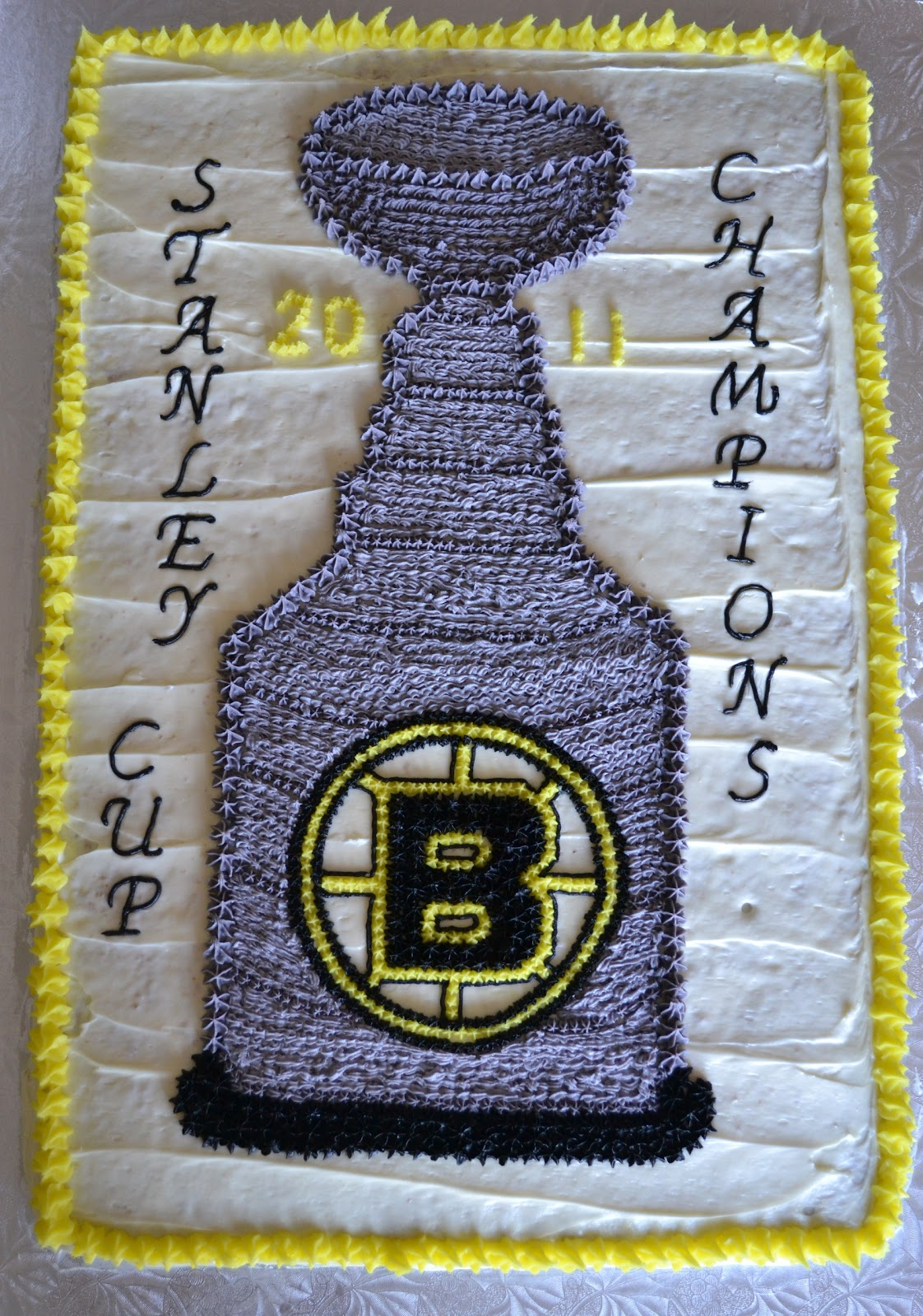 Boston Bruins Stanley Cup Cake