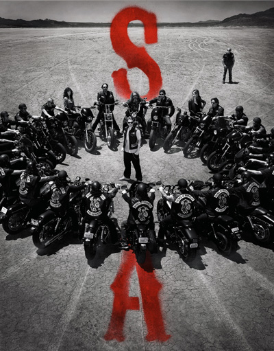 generic shot of Sons of Anarchy gang