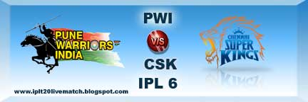 IPL 6 PWI vs CSK Full Scorecards and Highlight