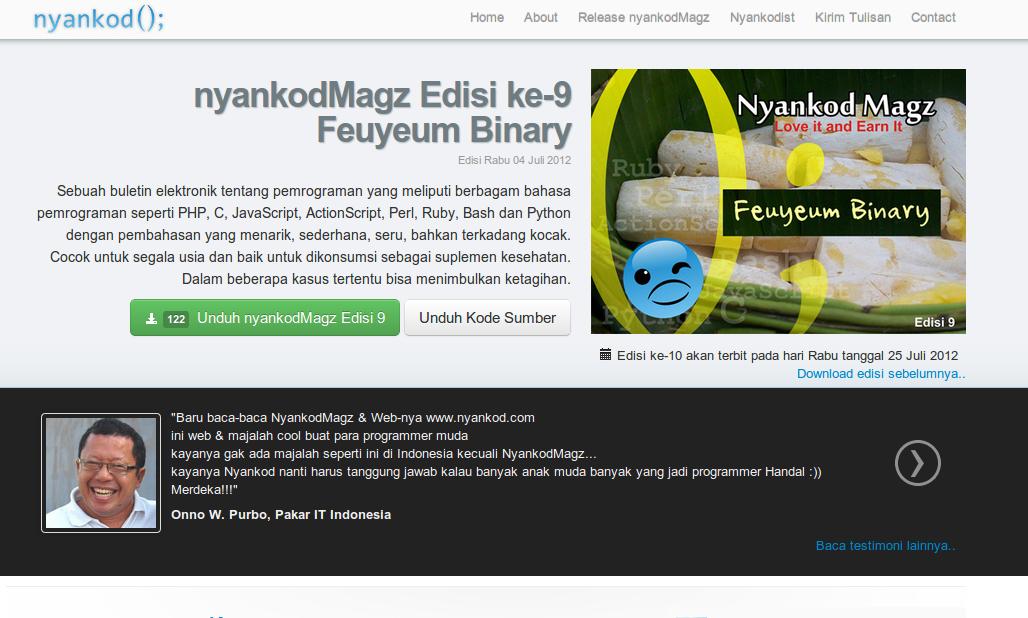 "Halaman situs <a href=""http://www.nyankod.com/nyankodmagz"" target=""_blank"">Nyankod</a>;"