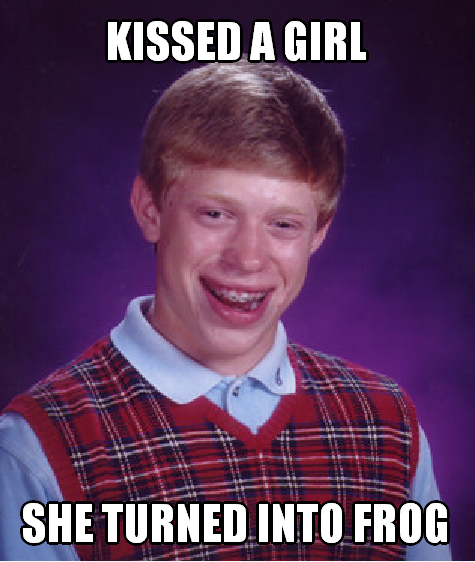 Brian Bad Luck Kissed A Girl