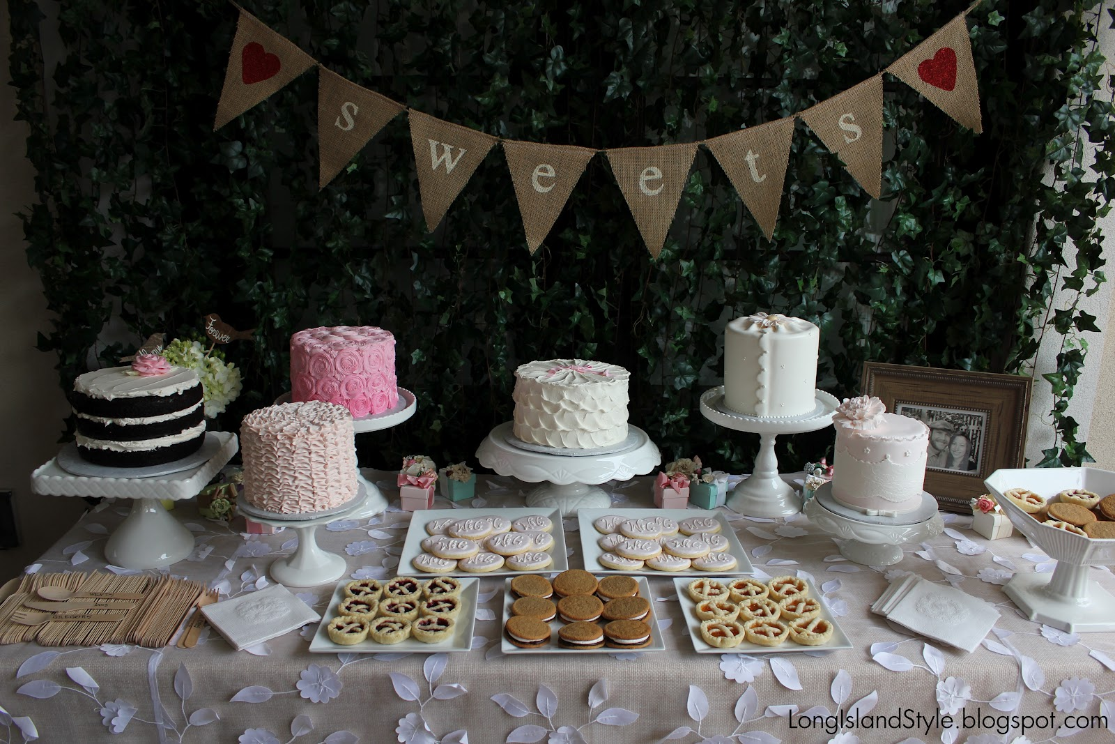 long island style rustic luxe bridal shower