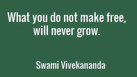 What you do not make free, will never grow.