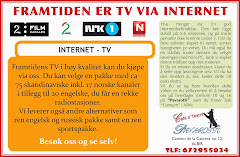 FRAMTIDEN ER TV VIA INTERNET