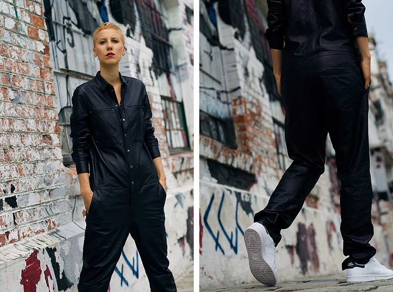 H&M Studio AW14 Leather Boiler Suit beeswonderland