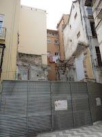 Málaga, solar resultado de demolición de edificio histórico en calle Don Juan de Málaga 6