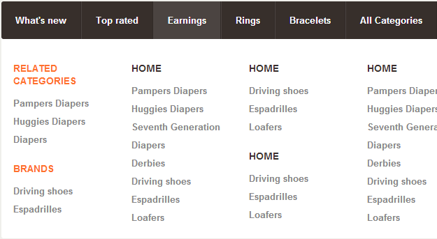 40 Free HTML5 And CSS3 Dropdown Navigation Menu