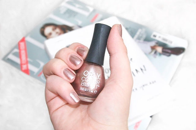 Katherine Penney Chic Blogger Beauty Makeup Nail Polish ORLY Rose Gold ELLE freebie magazine